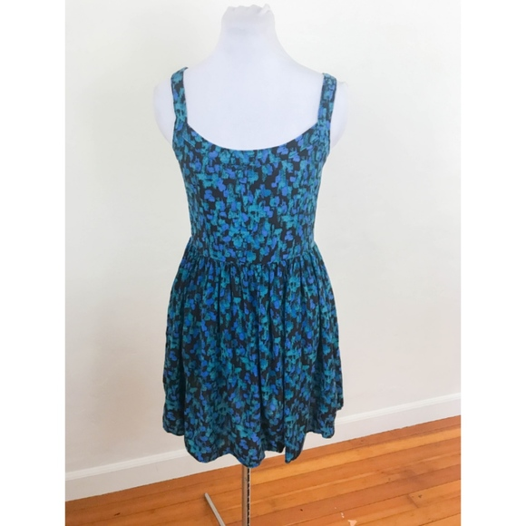 Frenchi Dresses & Skirts - Frenchi Blue and Green Printed Rayon Dress